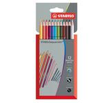 Pastelli colorati Stabilo Aquacolor 1612-3 -  tratto 2,8mm - Stabilo - Astuccio 12 pastelli colorati