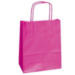 Shopper in carta - maniglie cordino - magenta - 14 x 9 x 20cm - conf. 25 shoppers