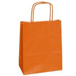Shopper in carta - maniglie cordino - arancio - 14 x 9 x 20cm - conf. 25 shoppers