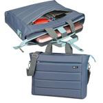 Cartella City Time in nylon - grigio/azzurro - 42 x 33 x 10cm - Niji Italiana