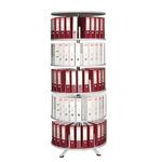 Archiviatore girevole Rondò - 5 ripiani - diametro 80,5 cm - altezza 205 cm - grigio - Bertesi