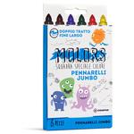 Astuccio 6 pennarelli Molors jumbo - colori assortiti - Osama