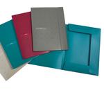 Cartellina 3 lembi Matrix - con elastico - PPL - 24x33 cm - rosso porpora - Favorit