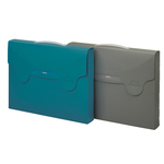 Valigetta porta documenti Matrix - dorso 5 cm - 38x29 cm - blu ottanio - Favorit
