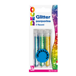 Glitter grana fine - 12ml - colori assortiti iridescenti -  CWR - Conf. 3 tubi