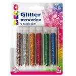 Glitter grana fine - 12ml - colori assortiti - CWR - blister 6 flaconi