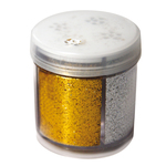 Glitter dispenser grana fine - 40ml - barattolo dispenser - 4 colori assortiti - CWR