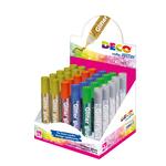 Colla glitter - 10,5ml - colori assortiti metal - CWR - Conf. 30 tubi