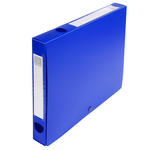 Scatola per archivio box - con bottone - 25x33 cm - dorso 40 mm - blu - Exacompta