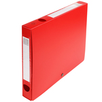 Scatola per archivio box - con bottone - 25x33 cm - dorso 4 cm - rosso - Exacompta