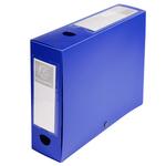 Scatola per archivio box - con bottone - 25x33 cm - dorso 8 cm - blu - Exacompta