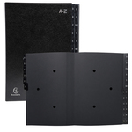 Classificatore alfabetico A/Z Ordonator - 25x33 cm - nero - Exacompta