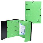 Cartellina 3 lembi forata - con elastici Punchy - cartoncino lustrè - verde anice - Exacompta