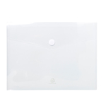 Busta a tasca con chiusura in velcro - PPL - 24x32 cm - trasparente - Exacompta