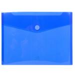 Busta a tasca con chiusura in velcro - PP - 24x32 cm - blu/trasparente - Exacompta