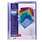 Busta a tasca con chiusura in velcro - PPL - 24x32 cm - colori assortiti - Exacompta