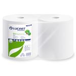 Bobina asciugatutto Eco Pulitutto - 2 veli - 18,5 gr - diametro 24 cm - 25 cm x 200 mt - microgoffrata - bianco - Lucart