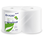 Bobina asciugatutto Eco 800 Joint - 2 veli - 18,5 gr - diametro 26 cm - 25 cm x 296 mt - microgoffrata - bianco - Lucart