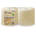 Bobina asciugatutto EcoNatural - microgoffrata - 18,5 gr - diametro 24 cm - 25 cm x 200 mt - avana - Lucart
