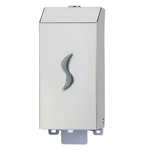 Dispenser per sapone liquido - 9,5x10,5x22,5 cm - capacità 0,5 L - acciaio inox - Medial International