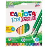 Pastelli colorati Tita cancellabile - Carioca - Astuccio 24 matite