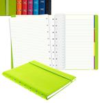 Notebook - similpelle - fucsia - A5 - a righe - 56 pagine - Filofax