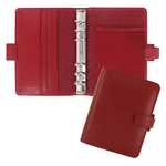 ORGANISER METROPOL POCKET F.TO 146X115X35MM ROSSO SIMILPELLE FILOFAX