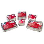 Contenitore in alluminio - 31,5x21,5x4,2 cm - 6 porzioni - coperchio incluso - Cuki - conf. 25 pezzi