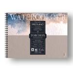 Blocco Watercolour Torchon - 24x32cm - 12 fogli - 300gr - spiralato - Fabriano
