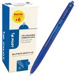 Penna a sfera Supergrip G a scatto - punta media 1,0mm - blu  - Pilot - conf. 30 pezzi
