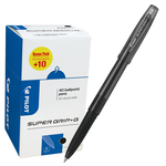 Penna a sfera Supergrip G con cappuccio - nero - punta fine 0,7mm - Pilot - value pack 40 pezzi