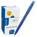 Penna a sfera Supergrip G con cappuccio - punta fine 0,7mm - blu  - Pilot -  conf. 40 pezzi