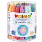 Pastelli a cera - Ø 10,5x100mm - Primo - barattolo 36 colori