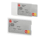 Tasca porta carte di credito RFID Secure - 54x87 mm - trasparente/argento - Durable
