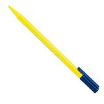 Pennarello Triplus Color punta feltro - tratto 1,00mm - giallo chiaro - Staedtler