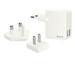 Caricatore universale - 2 porte USB - bianco - Leitz Complete