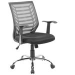Seduta operativa Miami - con braccioli - schienale in rete grigia/seduta nero - Serena Group