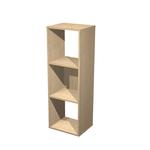 Libreria casellario Rainbow - 3 caselle - 35,9x29,2x103,9 cm - rovere - Artexport