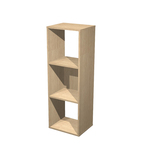 Libreria casellario Rainbow - 3 caselle - 35,9x29,2cm - H103,9cm - rovere - Artexport