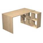 Postazione Home-Office - 6 caselle - L140xP104xH72,4cm - rovere - Artexport