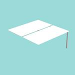 Postazione doppia aggiuntiva per scrivanie Agorà - 180x168x72,5 cm - bianco - Artexport