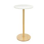 Tavolo Woody - altezza 110 cm - diametro piano 60 cm - bianco - Paperflow