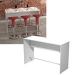 Tavolo alto Ristoro - 160x70x105 cm - bianco - Artexport