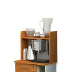 Sopralzo angolo Ristoro - punto caffè - 59,8x24x50 cm - bianco/noce chiaro - Artexport