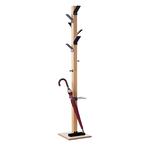 Appendiabiti Easycloth - 35x35x180 cm - 6 posti - con portaombrelli - legno/nero - Paperflow