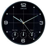 Orologio da parete 4 fusi on time - diametro 30,5cm - Unilux