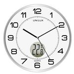 Orologio da parete Tempus - diametro 30,5 cm - con termometro - bianco - Unilux