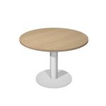 Tavolo riunione Agorà Direction - tondo - diametro 120 cm - altezza 73 cm - gamba metallo - rovere - Artexport
