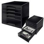 Cassettiera Drawer Cabinet Cube 5 - nero - Leitz