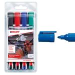 Marcatore permanente 300 - 4 colori - punta conica da 1,5 a 3,0mm - Edding - astuccio 4 marcatori